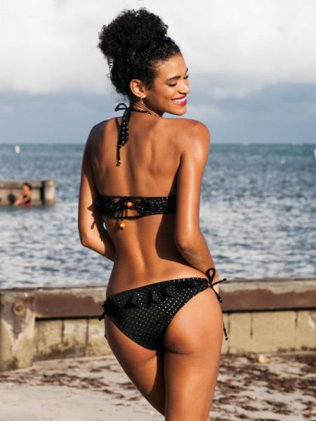 Black bikini Natalya Toporova плавки