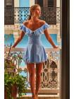Платье  LARA DRESS голубого цвета Peixoto