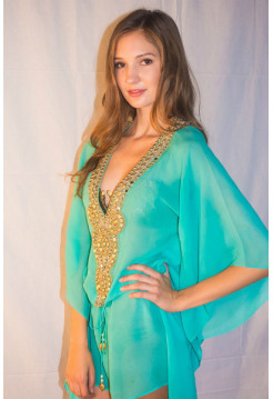 COTTON AQUA CAFTAN Sauvage